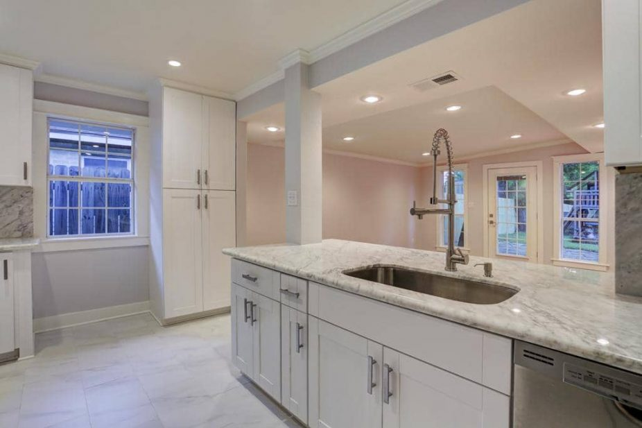 Marble Countertops White Cabinets Houston